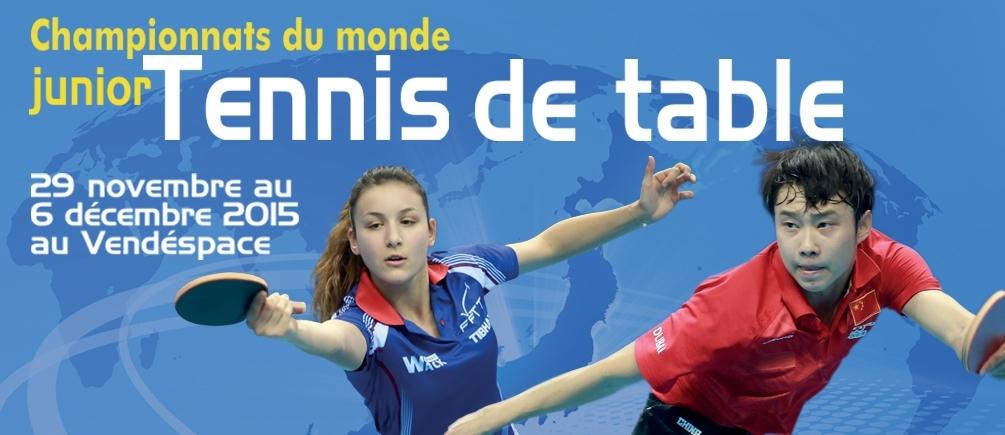 Championnat du monde junior tennis de table 2015 Vendespace