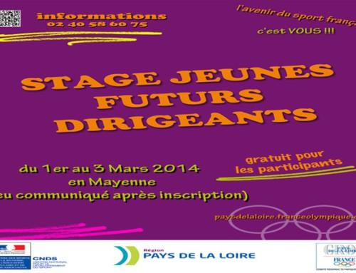 Stage Jeunes dirigeants bénévoles en Mayenne