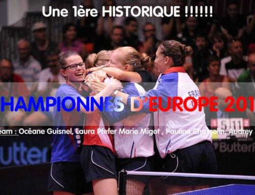 Océane et Romain …. Champions d'Europe par équipes