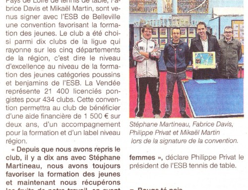 Article de presse convention belleville