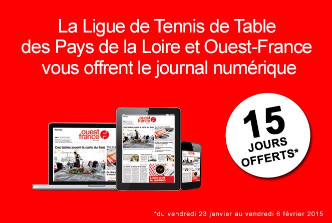 1 tennis de table ligue des pays de la loire - Ligue des pays de la loire tennis de table ...