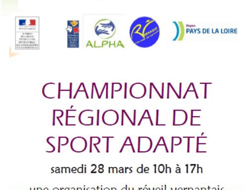 Championnat régional de sport adapté à Vernantes le 28 mars : résultats