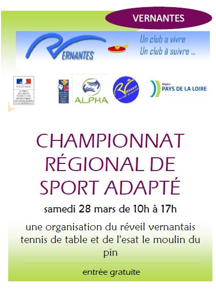Sport adapt informations tennis de table ligue des - Ligue des pays de la loire tennis de table ...