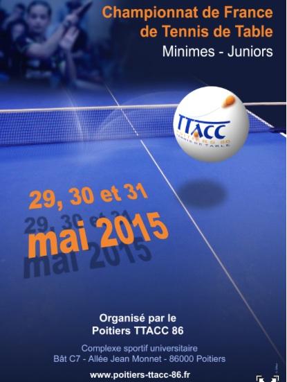 Affiche Poitiers Tennis De Table Ligue Des Pays De La Loire