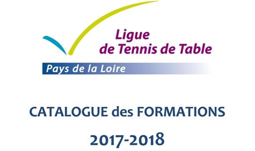Image couverture catalogue formation tennis de table - Ligue des pays de la loire tennis de table ...
