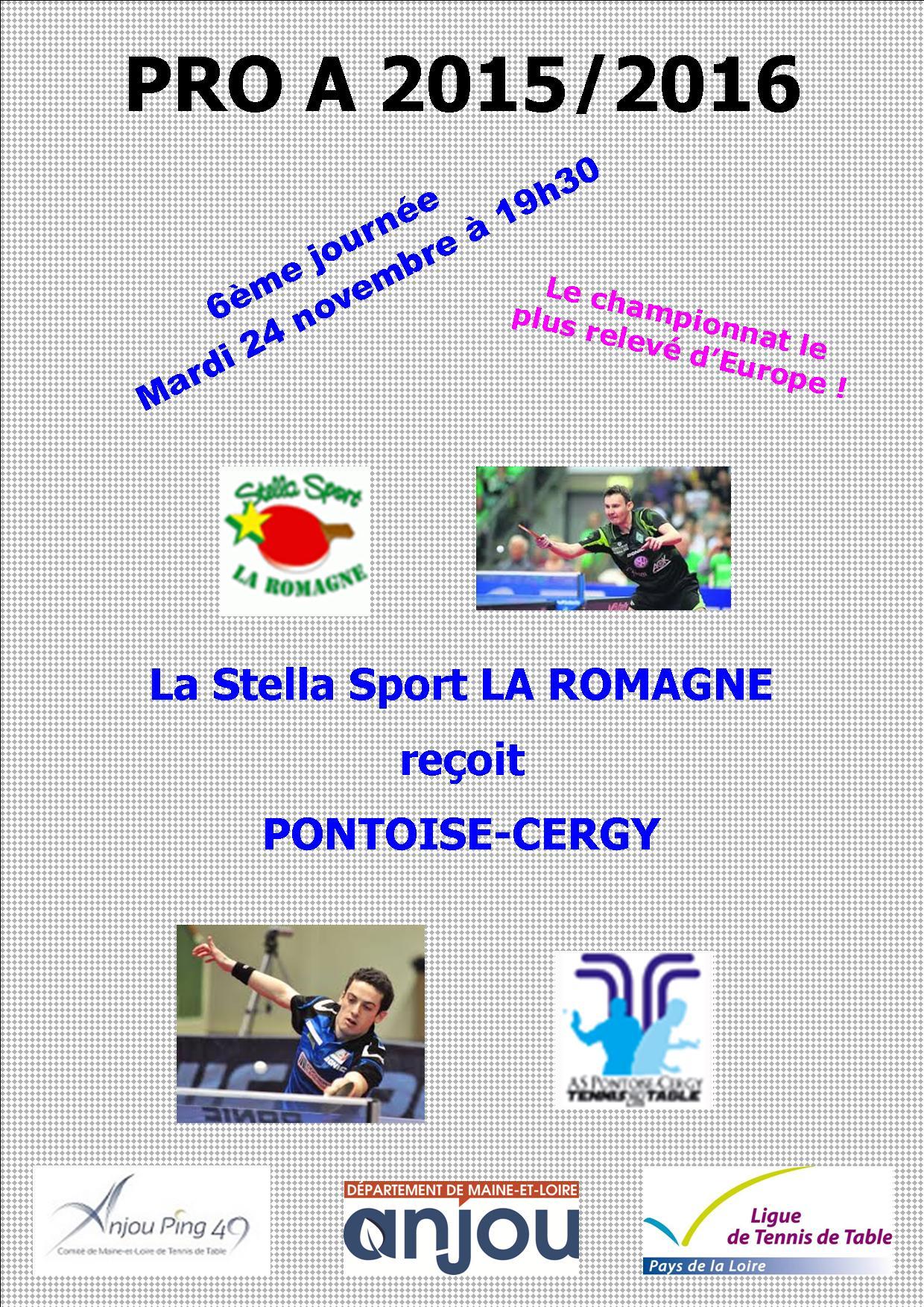 Annonce j6 pro a angers et la romagne tennis de table - Ligue des pays de la loire tennis de table ...
