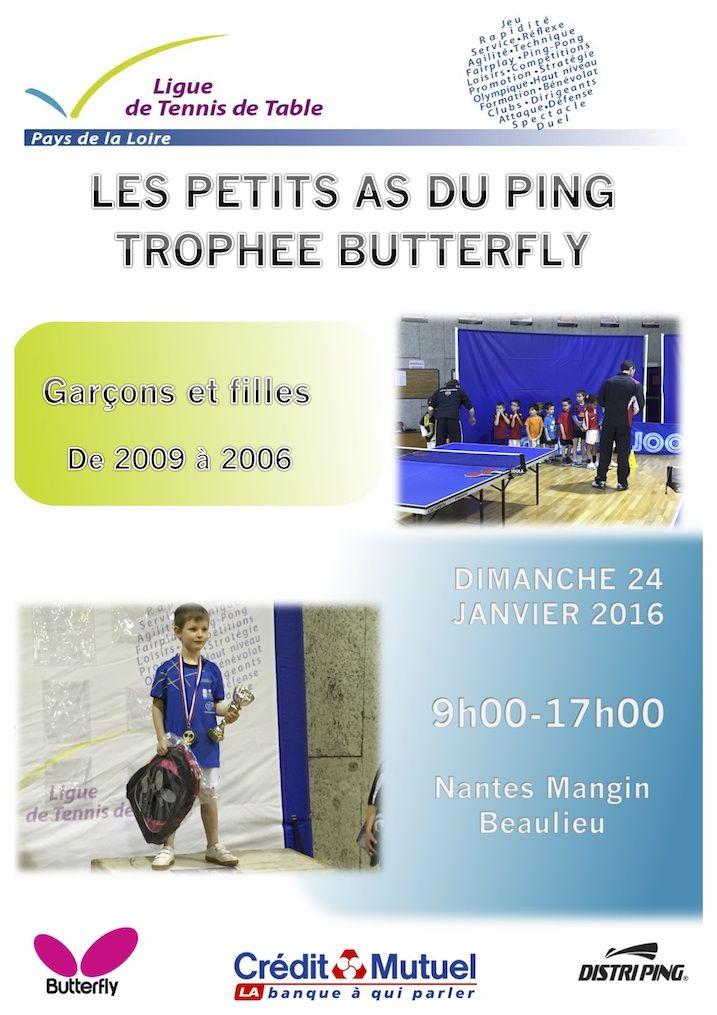 Petits as du ping troph e butterfly tennis de table - Ligue des pays de la loire tennis de table ...