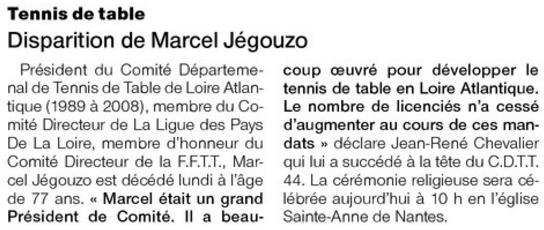 Marcel jegouzo nous a quitt tennis de table ligue des - Ligue des pays de la loire tennis de table ...