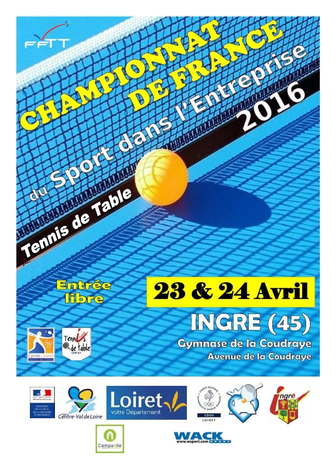Championnats de france corpos ingr 6 podiums pour les - Championnat de france de tennis de table ...