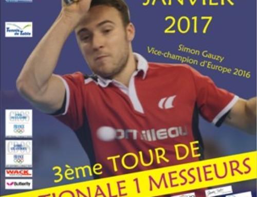 3ème tour du Critérium Fédéral Nationale 1 messieurs à ST JULIEN DE CONCELLES (44)