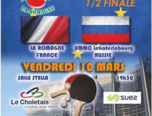 1/2 FINALE ETTU CUP – LA ROMAGNE/LEKATERINBOURG UMMC (Russie)