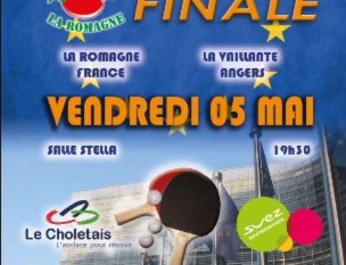 COUPE D'EUROPE ETTU – 2 clubs Ligériens en finale !