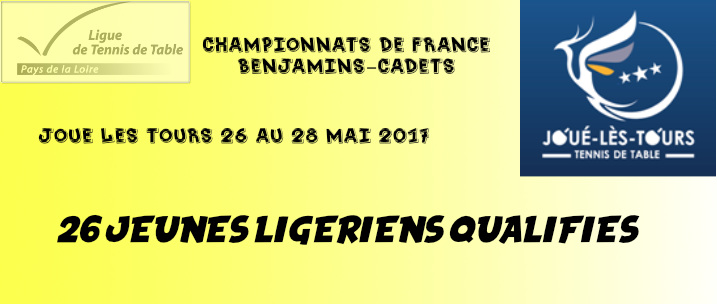 Championnats de france benjamins cadets marc courgeon en - Championnat de france de tennis de table ...