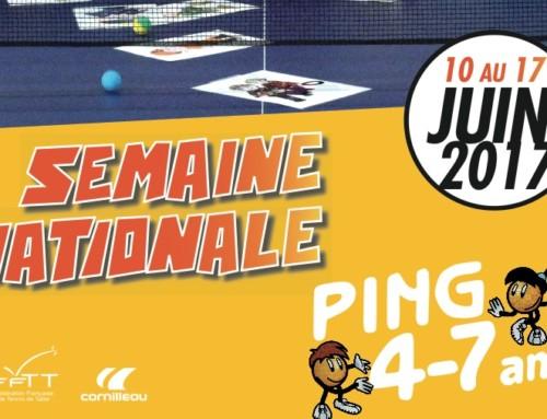 Semaine nationale du ping pour les 4-7 ans