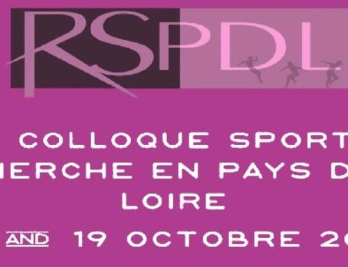7ème Colloque Sport et Recherche en Pays de la Loire – 18 et 19 octobre 2018