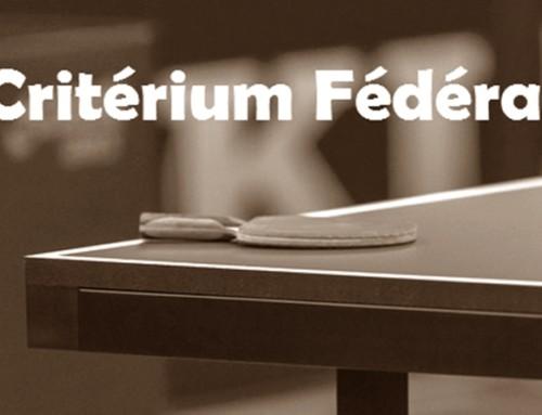 Critérium fédéral -Tour 4-Résultats