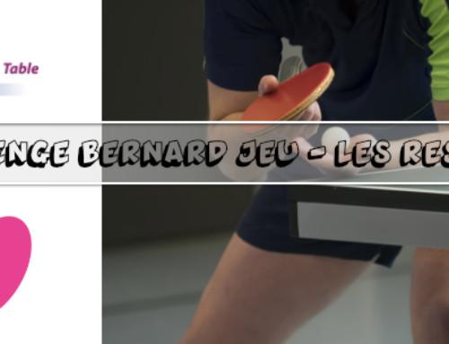 Challenge Bernard JEU : RESULTATS