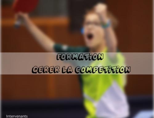 Journée de formation : Gérer la Compétition…