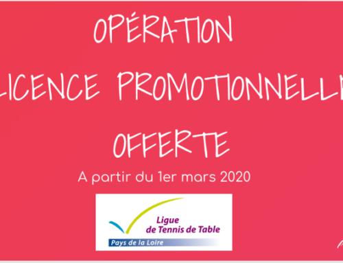"Opération ""Licence promotionnelle offerte"""