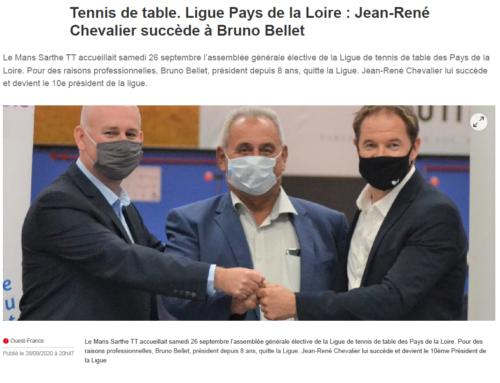 Assemblée générale élective de la Ligue – 26/09/2020 – Le Mans