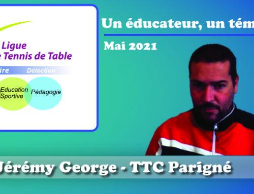 Un éducateur, un témoignage…Jérémy George