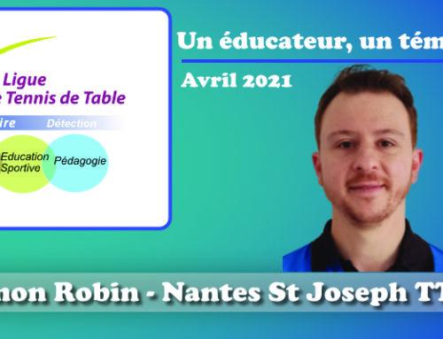 Un éducateur, un témoignage…Simon Robin
