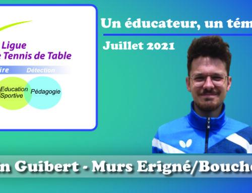 Un éducateur, un témoignage…Benjamin Guibert