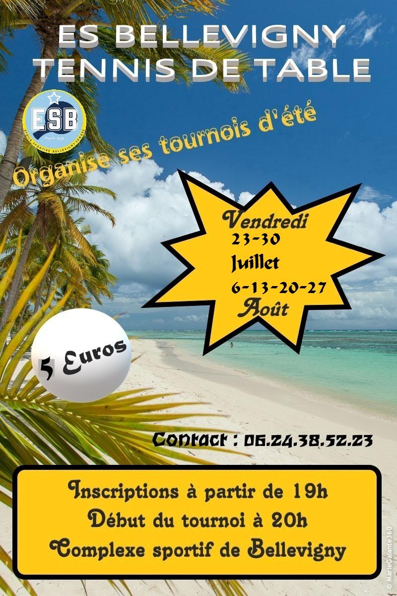 Affiche tournois Bellevigny