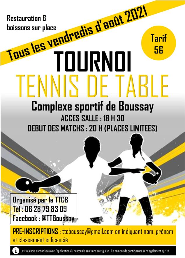 Affiche tournois Boussay