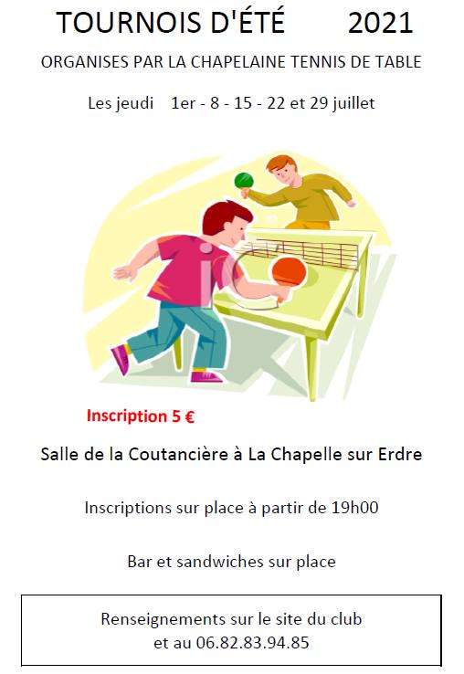 Affiche tournois La Chapelaine