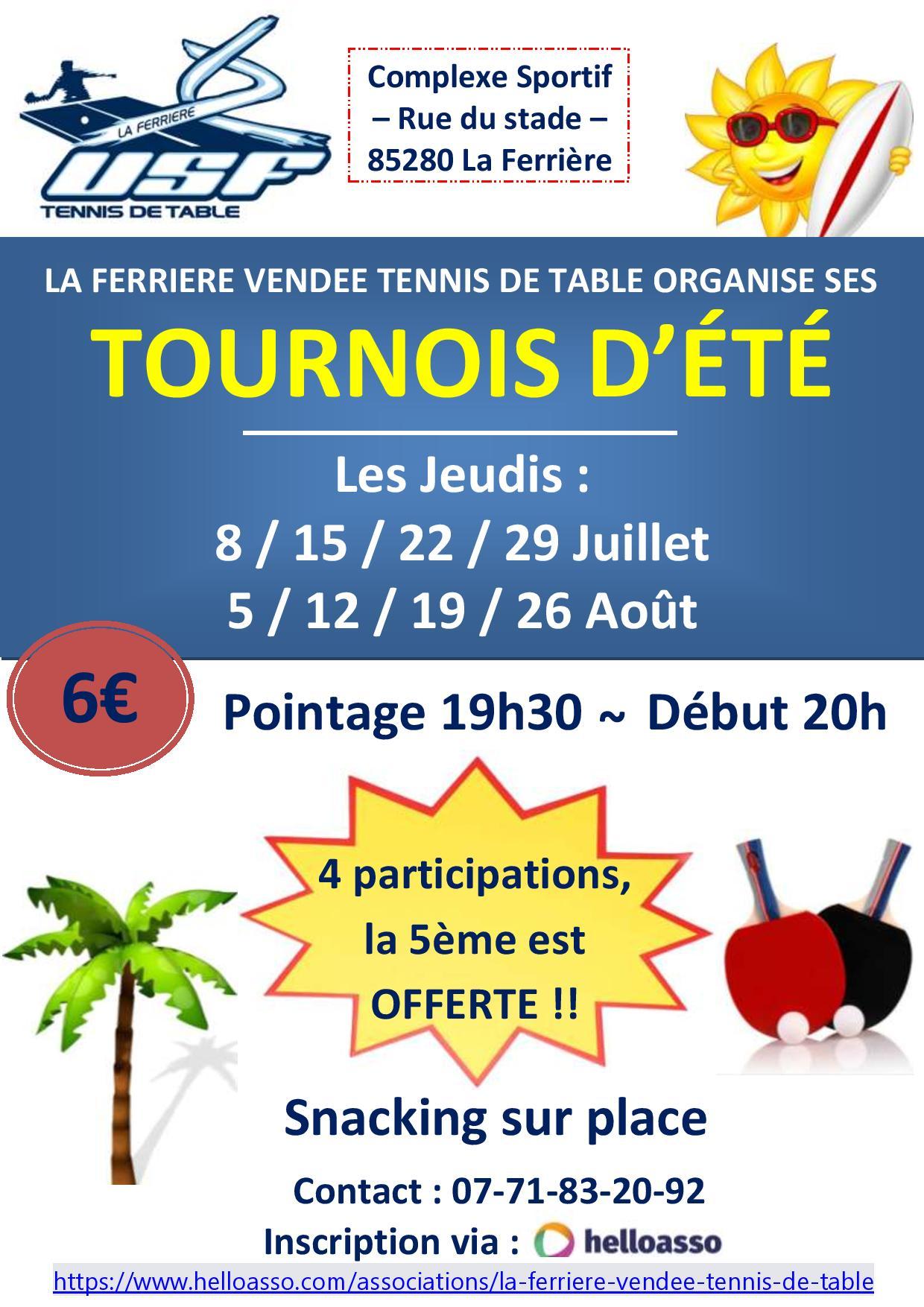 Affiche tournois La Ferrière