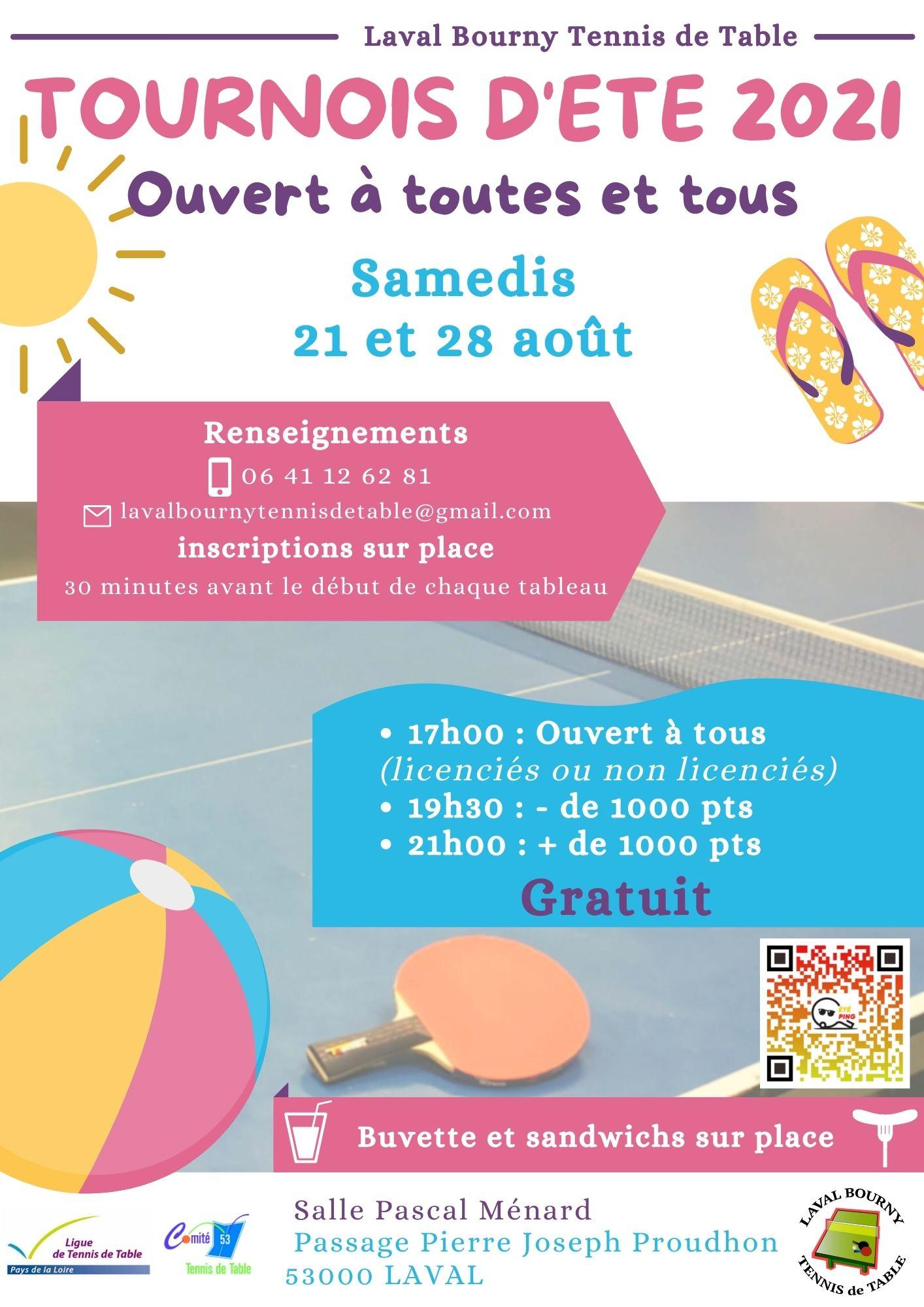 Affiche tournois Laval Bourny