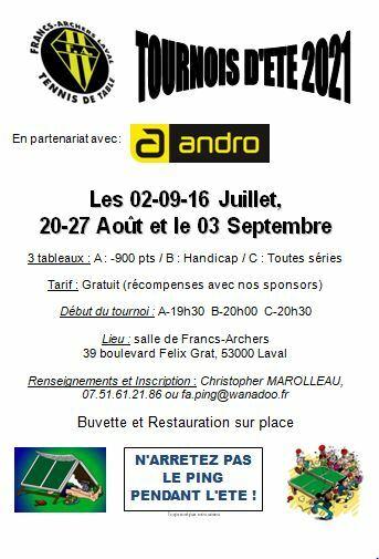 Affiche tournois Laval FA