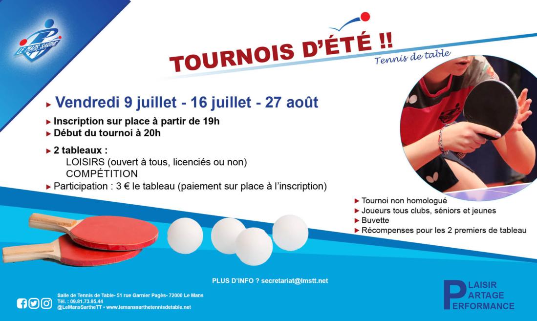 Affiche tournois Le Mans