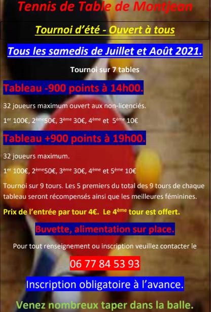 Affiche tournois Montjean