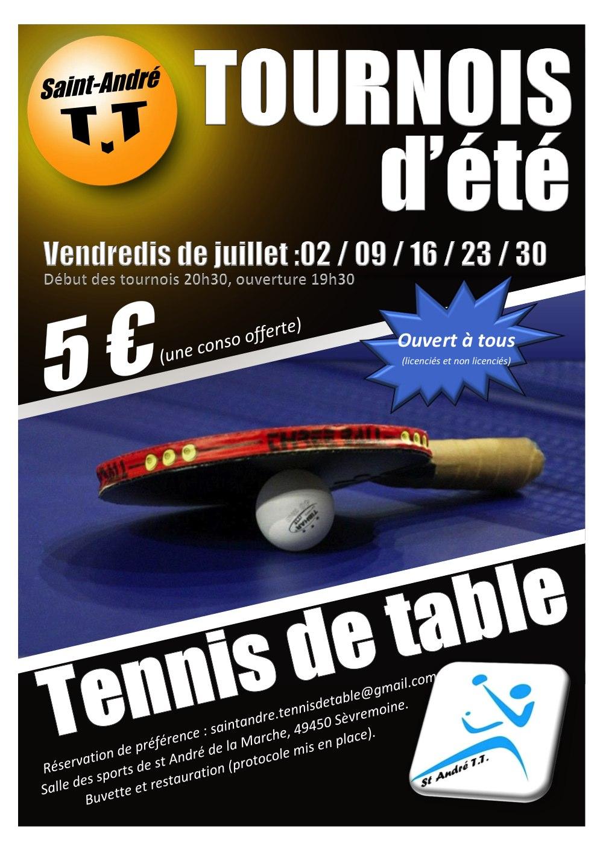 Affiche tournois Saint André