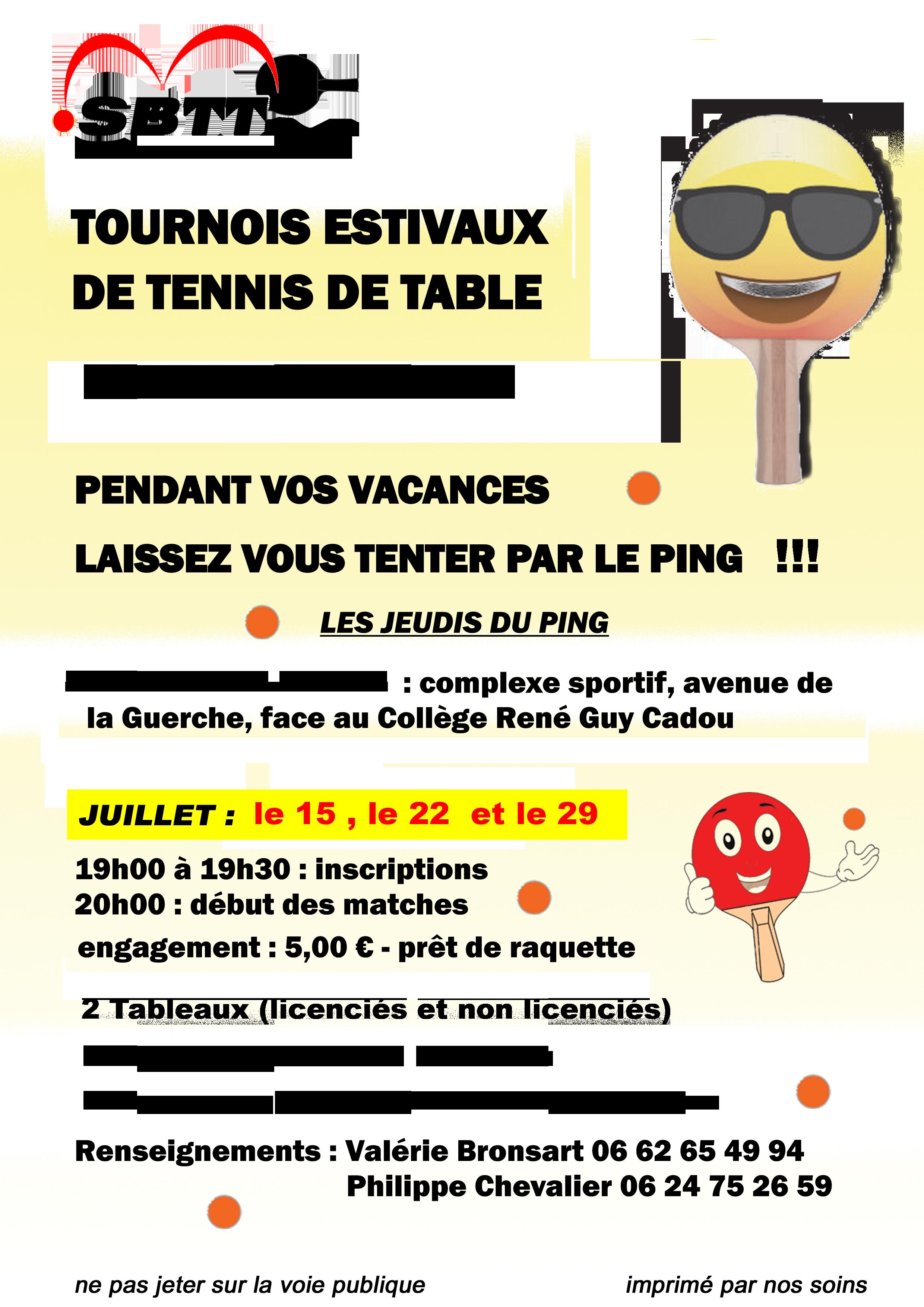 Affiche tournois Saint Brévin