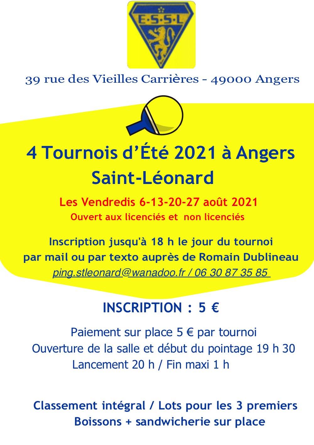 Affiche tournois Saint Leonard