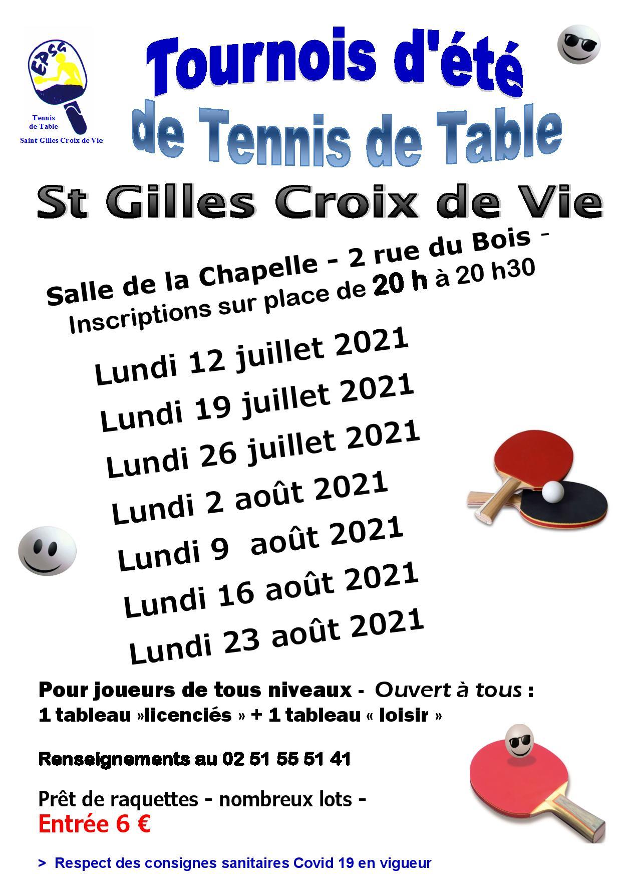 Affiche tournois St Gilles