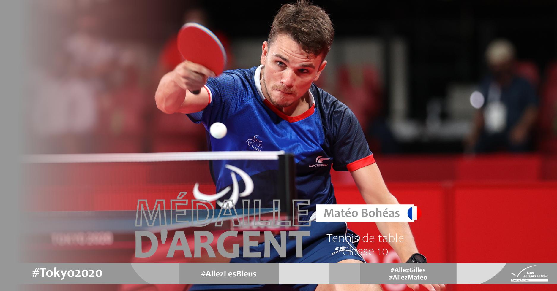 Matéo Bohéas vice-champion paralympique