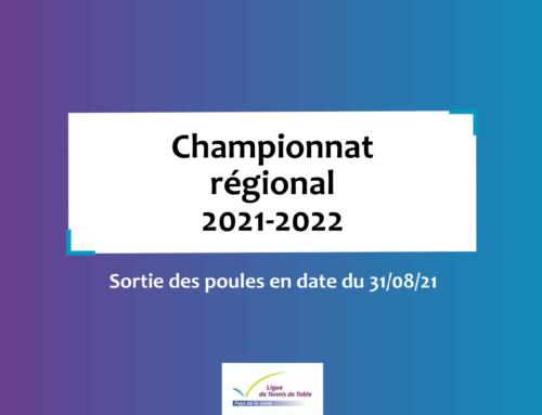 Découvrez les poules de la saison 2021-2022