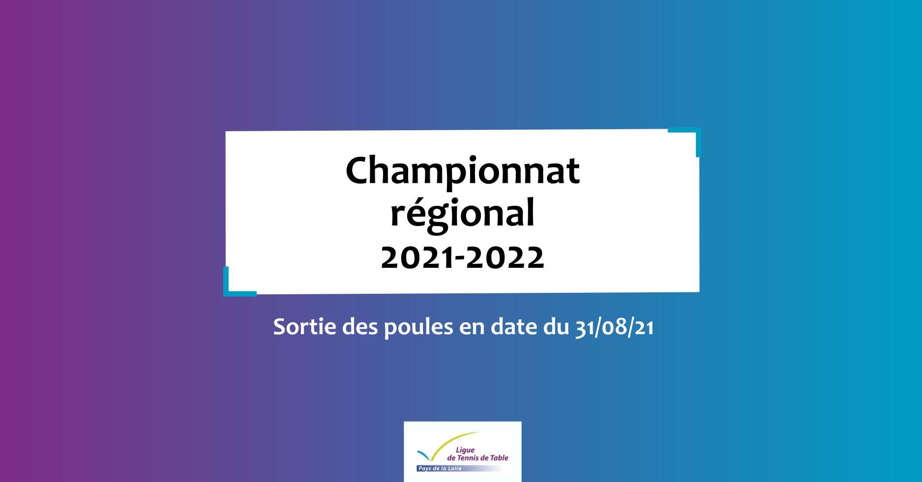 Poules championnat régional 2021-2022