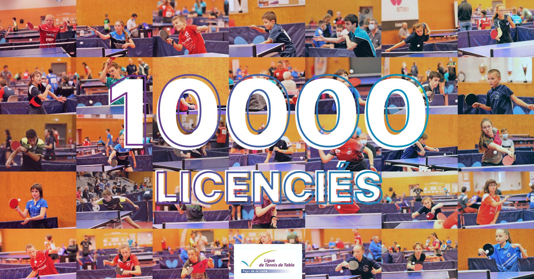 10000 licenciés en Pays de la Loire