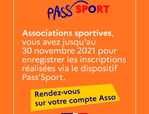 Remontez les inscriptions Pass'Sport jusqu'au 30 novembre