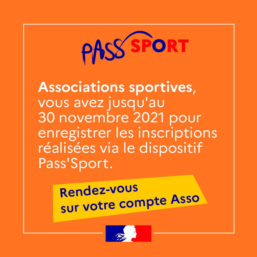 Pass Sport jusqua novembre