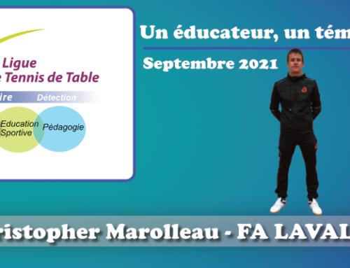Un éducateur, un témoignage…Christopher Marolleau
